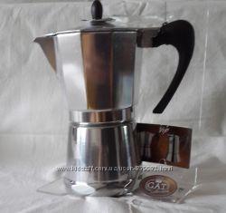 Гейзерные кофеварки GAT, Италия Vip Aluminium Ind. line