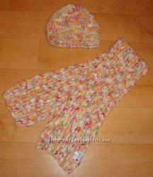 Шапка с шарфом на дев. 12-16 лет