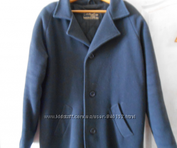 Зимнее мужское пальто из натурально драпа