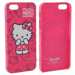 Чехол HELLO KITTY на iPhone 55s розовый, пластик