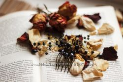 Свадебные гребни, украшения для волос , диадемы ручной работы