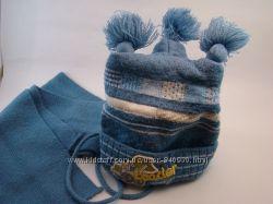Теплая зимняя шапочка и шарф на мальчика Politano Польша 48р
