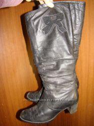 Кожаные зимние сапоги на меху Ellenka 39р 25см