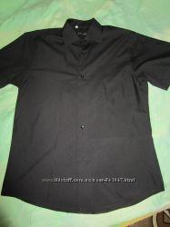 Рубашка мужская черная, хлопок, р. 48-50 Турция