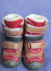Зимние, кожаные сапожки на овчине 14, 5см. по стельке