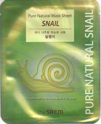Восстанавливающая маска с муцином улитки The Saem Snail Pure Natural Mask