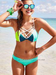 Разные топы и плавки Victoria&acutes Secret PINK Strappy Front Top & Mini Bikini