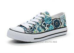 Летняя обувь - Кеды с цветочным узором