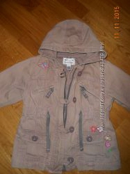 Моднячая джинсовая куртка Next на 1. 5-2. 5 года в отлич. состоянии