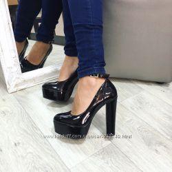 туфли толстый каблук