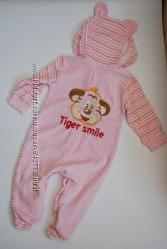Розовый велюровый челочек для девочки Габби 62-68 см