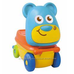 Машинка-чемоданчик BabyBaby Медвежонок желто-голубой
