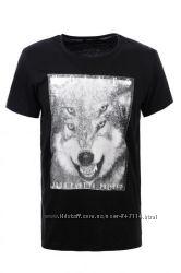 футболки Гло Стори черная и меланж