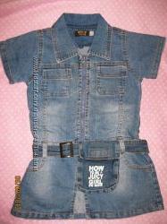 стильное джинсовое платье от 2 до 5 лет GEE JAY