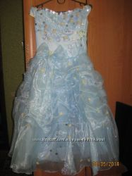 Прокат Нарядное платье и  перчатки  на 6-10 лет.