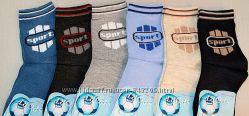 детские демисезонные хлопковые носки для мальчиков р. 23-26