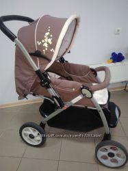 Удобная и широкая для дитя прогулочная коляска Geoby