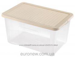 Контейнер для хранения пластиковый 60 л, 60х40х30 см, Heidrun 4625, Италия