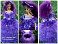 Кукла шкатулка  Дама в фиолетовом