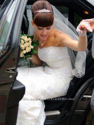 Шикарное свадебное платье продажа или прокат