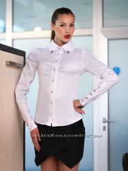 Класична біла блуза, в наявності 2 розміри