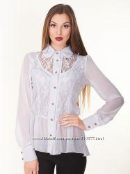 Біла шифонова блуза розмір L