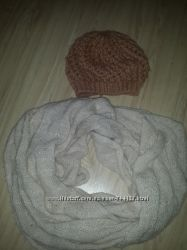 женский шарф, хомут, шапки