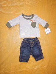 0-1 мес. , р. 50-56 новый костюмчик для новорожденного Carter&acutes
