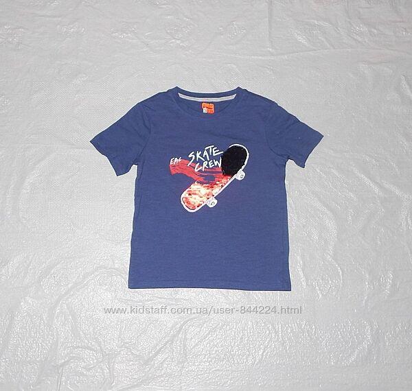 р. 128, классная футболка с пайетками пайетки перевертыши, Alive, Германия