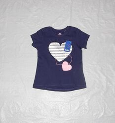 р. 98-104, удлиненная футболка блестящий принт хлопок Лупилу Lupilu, Герман