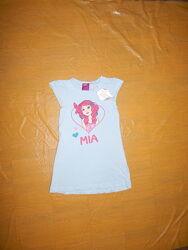 р. 98-104, летняя ночная рубашка туника платье хлопок Mia Alive, Германия