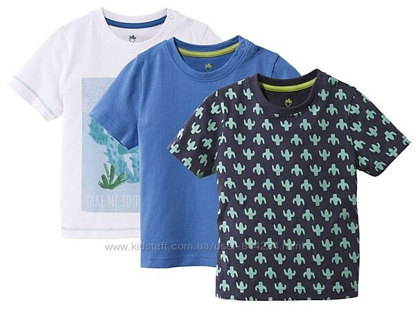 набор 3 шт р. 110-116, футболка хлопок Лупилу Lupilu, Германия