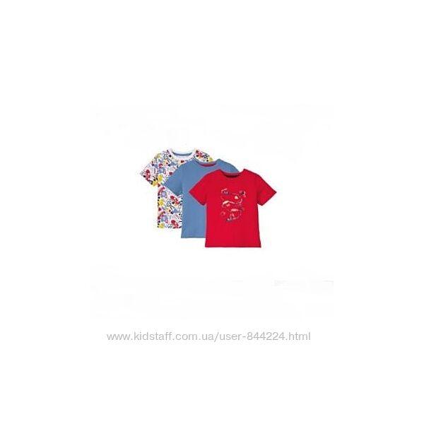 набор 3 шт р. 98-104 , футболка хлопок Лупилу Lupilu, Германия