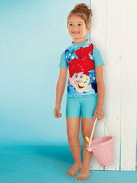 р. 74-80, 86-92 Купальный костюм с уф-защитой Disney Принцессы, Германия