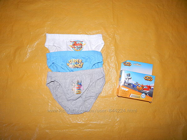 набор 3 шт 2-3, 4-5, 6-8 лет, хлопковые трусики слипы для мальчиков Disney