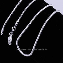Цепочки серьги серебро 925