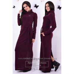 Платье-хомут в пол ангора