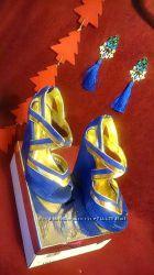 Босоножки сині