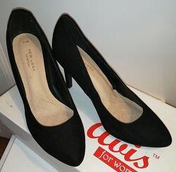 Туфли лодочки замшевые New Look