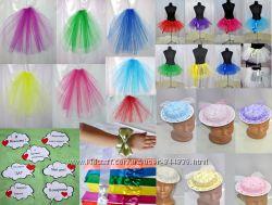 Аксессуары для девичника юбки, фата, шляпки, вуалетки, цветы