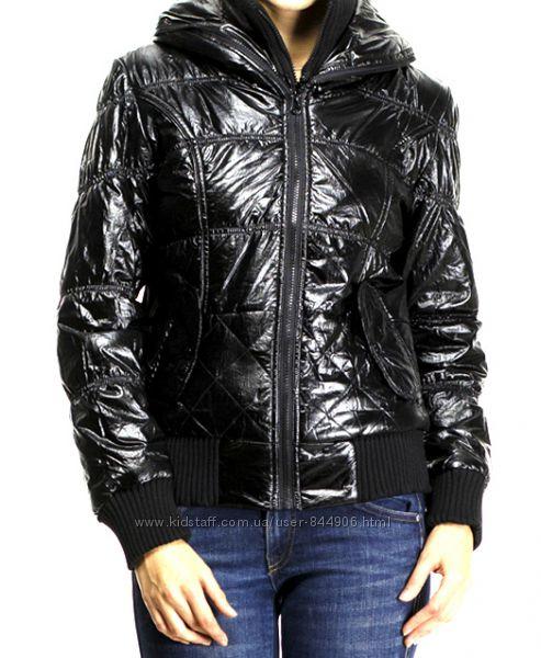 Куртка  Colins , черная , раз M-L, двойная змейка, утепленная