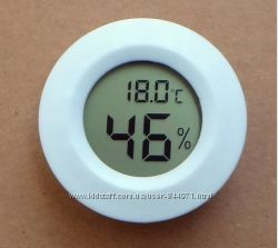 Термометр-гигрометр цифровой круглый