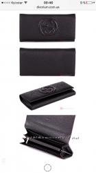 Женские кошельки из натуральной кожи Gucci, Bottega Venetta, Hermes, Prada