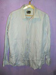 Продам б. у. голубую рубашку, 43 р.