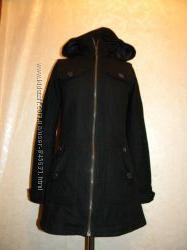 теплое пальто в составе шерсть размер с