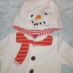 Велюровый человечек снеговик от F&F