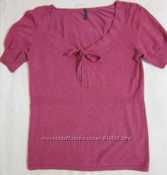 Продам трикотажный джемпер блузу NafNaf с коротким рукавом, размер М