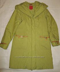 Продам женское болоневое осеннее пальто модного светло-оливкового цвета, 38