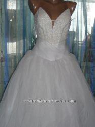 Красивое свадебное платье р-р 44-46