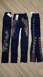 Легинсы под джинс со стразами. р. 42-50